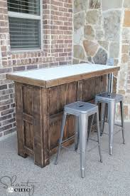 Diy Wooden Outdoor Chairs by Diy Tiled Bar Free Plans And A Giveaway Diy Wood Basements