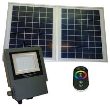Green Flood Light Outdoor Solar Powered Remote Controlled Color Changing Led Flood