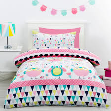 kids house ollie owl quilt cover set