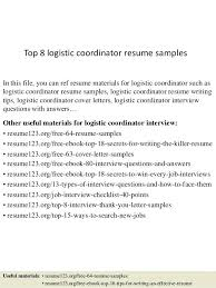 logistics coordinator resume sample customer care office samples