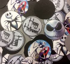 nightmare before christmas halloween personalized confetti