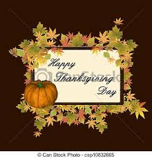 clip vector of happy thanksgiving day background vector