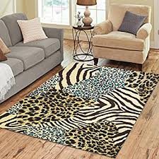 Zebra Floor L Interestprint Animal Tiger Print Area Rugs Carpet