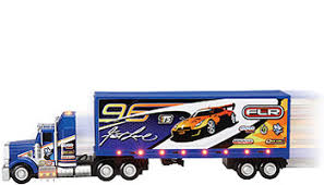 light up remote control car fast lane lights and sounds tethered radio control big rig truck