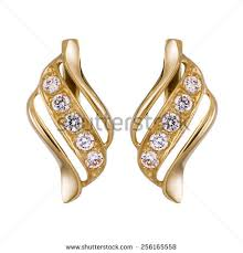 gold erring gold earrings stock images royalty free images vectors