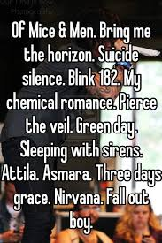 Bring Me The Horizon Meme - of mice men bring me the horizon suicide silence blink 182 my