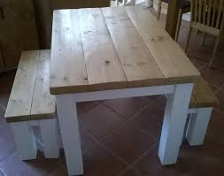 table banc cuisine handmade rustic kitchen table bench set 054