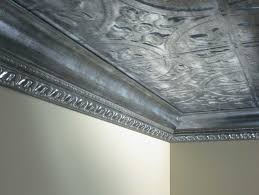 ceiling beautiful design for interior home decor with various mesmerizing faux tin ceiling tiles with crown molding and metallic design also white paint walls for