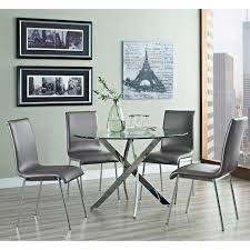 furniture of america ollivander 5 piece glass top dining table set furniture of america ollivander 5 piece glass top dining table set dark walnut hayneedle