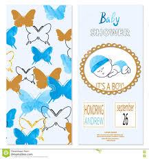 baby shower boy vector invitation card design with cute cartoon