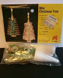 vintage leewards mini christmas tree 16 30748 bead sequin