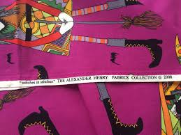 reserved for jen alexander henry halloween fabric witches in
