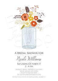 Mason Jar Bridal Shower Invitations Maryland Invitations Mason Jar Floral Bridal Shower Invitation