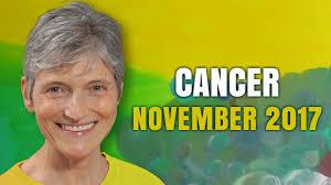 2017 horoscope predictions cancer november 2017 horoscope forecast barbara goldsmith youtube
