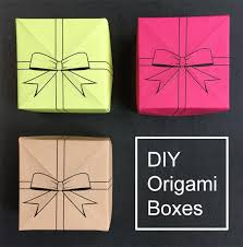 Paper Origami Box - diy origami box with a printable