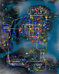 Chicago Gang Map Image Chicago Bus Map Jpg Watch Dogs Wiki Fandom Powered By