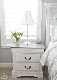 White Distressed Bedroom Furniture Nightstand Chalk Paint Tutorial Chalk Paint Tutorial Chalk