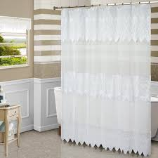 country style bathroom decor with white semi transparent shower