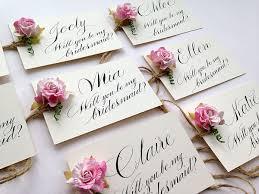 bridesmaid invitations uk uk calligrapher the wedding