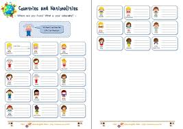english speaking countries worksheets
