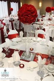 burgundy and white centerpiece wedding decorations by luxe