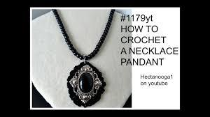 crochet necklace black images Crochet black pendant crochet jewelry jewellery jewelery jpg