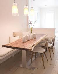 Banquet Or Banquette Dining Nook With Banquet And Rustic Light Wood Table Kitchen