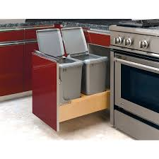kitchen island double trash bin a tilt out garbage and recycling