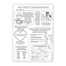 my communion color your own poster my communion 50 pk books media