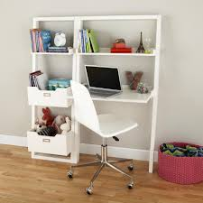 Crate And Barrel Computer Desk by Little Sloane Leaning Desk White Leaning Desk Bookcase White