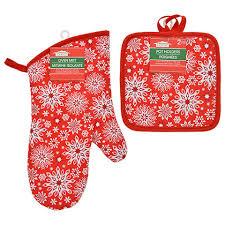 bulk christmas bulk christmas house snowflake oven mitts and pot holders at