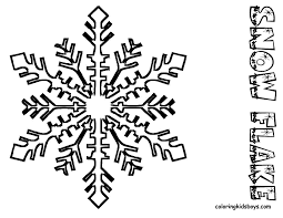 snowflake coloring pages snow flake kids coloringpage