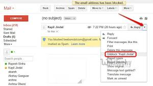 how to block emails on android how to block email address in gmail on web or android mobile