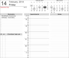 printable daily schedule excel daily schedule template daily task planner template excel