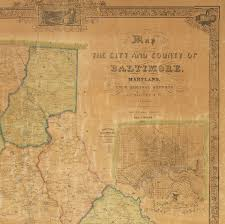 Map Of Maryland Counties The First Printed Map Of Baltimore County Maryland Rare