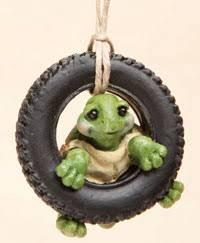 sky ornaments tire swing turtle ornament b5200061