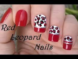 elegant red nail designs leopard nail art diy easy nails using