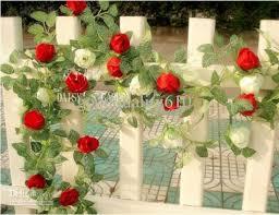 best 6 8ft artificial garland silk flower vine home