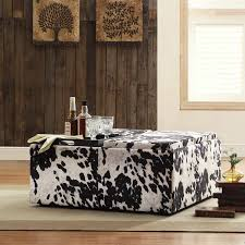 Black Amp White Modern Country by Decor Black White Cow Hide Modern Storage Ottoman