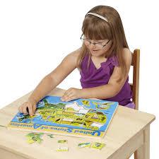 United States Map Puzzle Games by Amazon Com Melissa U0026 Doug Usa Map Wooden Puzzle 45 Pcs Melissa
