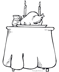 free thanksgiving dinner coloring pages 003