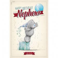 me to you happy birthday nephew card bear u0026 balloon characterwise