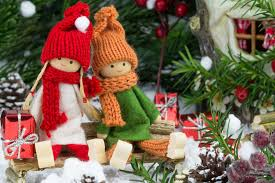 merry new year tree toys dolls gifts cherry
