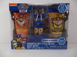 nickelodeon paw patrol soap u0026 scrub gift set 4 pc kids shower
