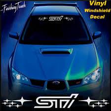 2016 subaru wrx turbo subaru sti vinyl windshield banner decal graphic wrx impreza
