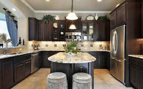 home design kitchen colors with dark wood cabinets outofhome in