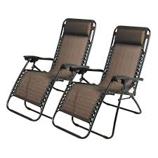 Beach Patio 2pcs Folding Zero Gravity Reclining Lounge Chairs Outdoor Beach