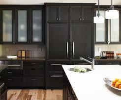 black stain on kitchen cabinets black kitchen cabinets better homes gardens