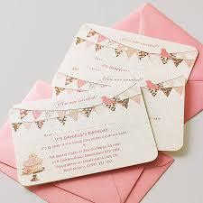 Personalised Christening Invitation Cards Personalised Cupcake And Bunting Invitation Bunting Invitation