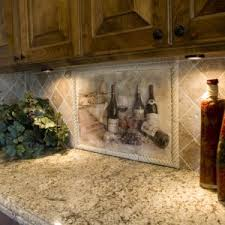 fancy tile murals kitchen backsplashes features volcano theme